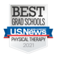 U.S. News & World Report - Best Grad Schools Physical Therapy 2021 badge