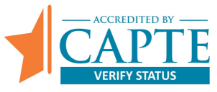 Accredited by the Commission on Accreditation in Physical Therapy Education (CAPTE) badge