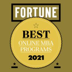 Fortune Best Online MBA Ranking Badge